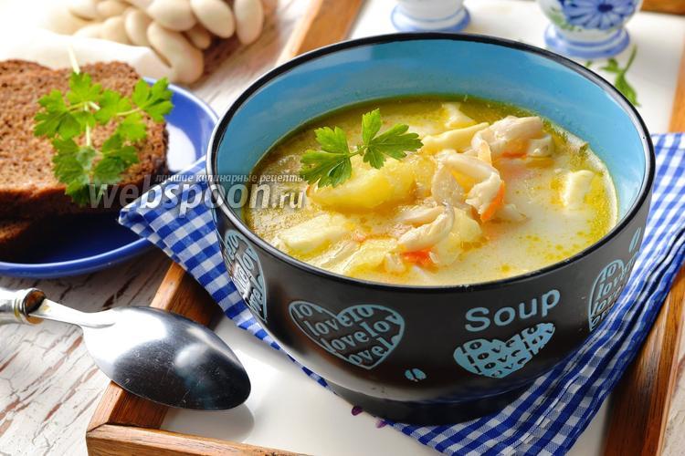 Фото Суп с вёшенками и курицей