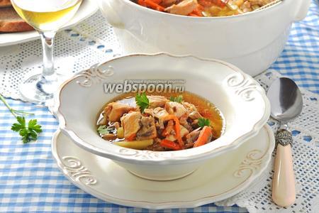 Грибной суп в духовке