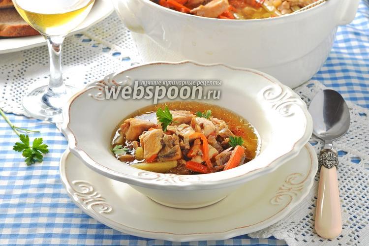 Фото Грибной суп в духовке