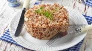 Фото рецепта Гречневая каша с капустой