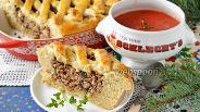 Фото рецепта Пирог с гречкой и грибами