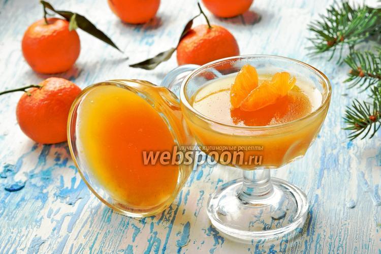 Фото Желе из мандаринов