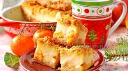 Фото рецепта Пирог с мандаринами и яблоками