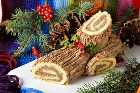 Фото рецепта Рождественское «Полено» закусочное