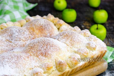 Пирог с половинками яблок видео рецепт