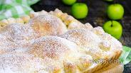 Фото рецепта Пирог с половинками яблок