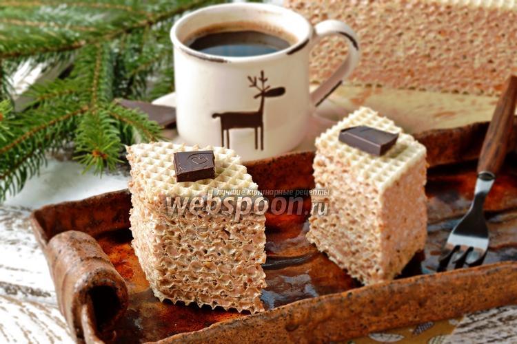 Фото Вафельный торт с шоколадом