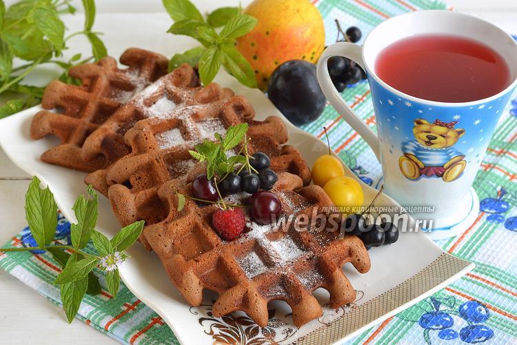 Фото Шоколадные вафли с фундуком