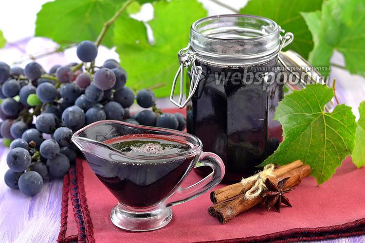 Фото Сироп из красного вина