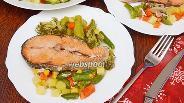 Фото рецепта Кета с овощами в духовке