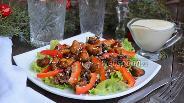 Фото рецепта Тёплый салат с мидиями