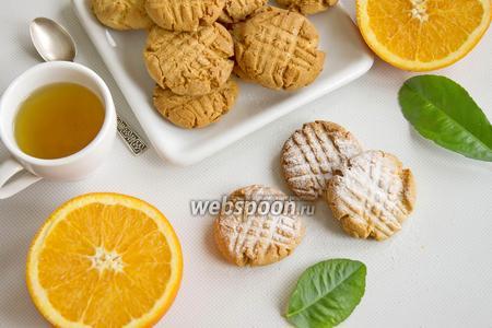 Фото рецепта Постное апельсиновое печенье