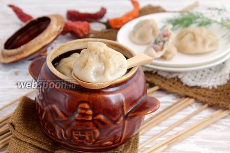 Фото рецепта Хинкали в горшочках