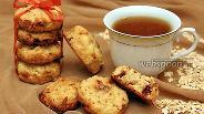 Фото рецепта Овсяное печенье с шоколадом