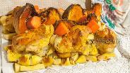 Фото рецепта Жаркое из цыплят с тыквой