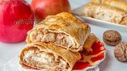 Фото рецепта Лаваш с яблоком и творогом