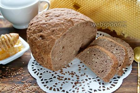 Фото рецепта Льняной хлеб в хлебопечке