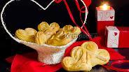 Фото рецепта Булочки-сердечки с сахаром