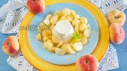 Фото рецепта Рикотта с персиками