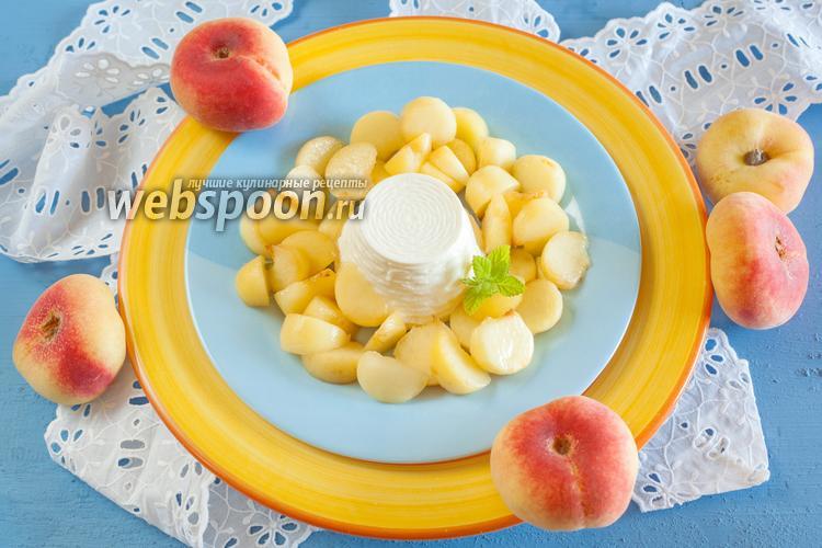 Фото Рикотта с персиками