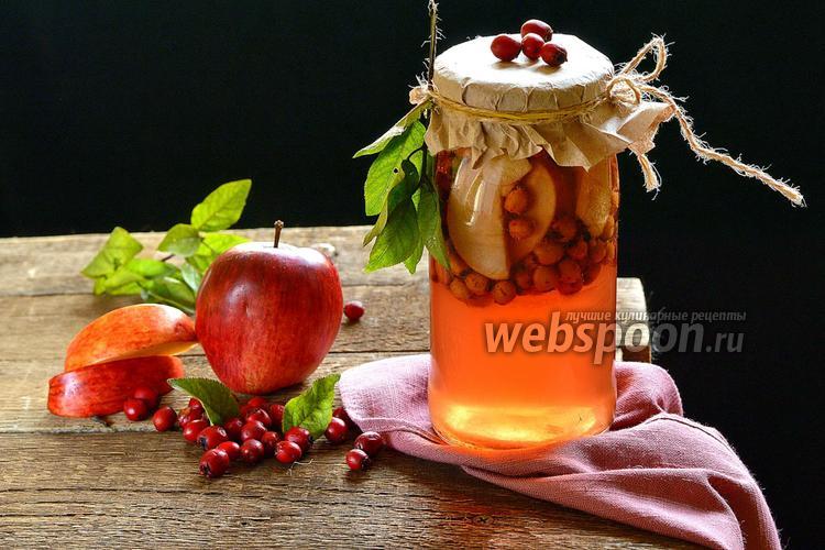 Фото Компот из боярышника и яблок на зиму