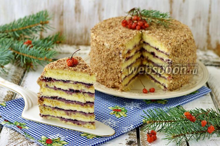 Фото Песочный торт с джемом
