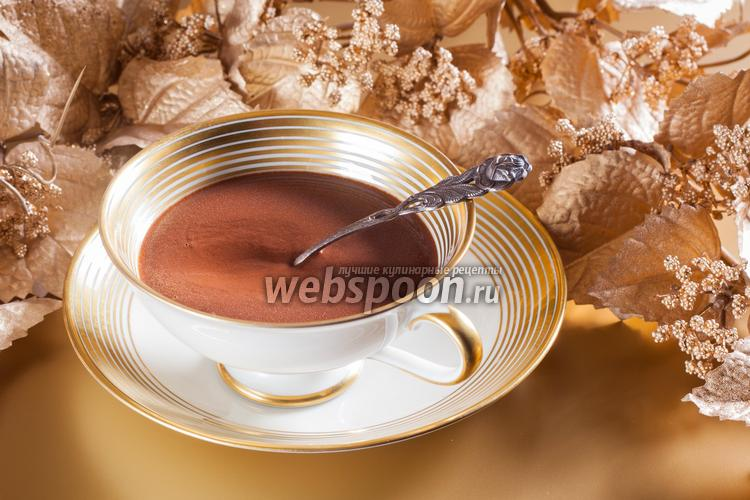 Фото Классический горячий шоколад из тёртого какао