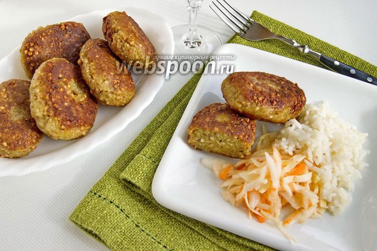 Фото Котлеты из гречки с картофелем