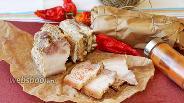 Фото рецепта Свиная грудинка в духовке