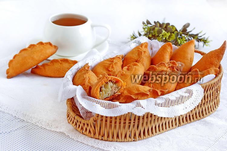 Фото Песочные пирожки с мясом и капустой