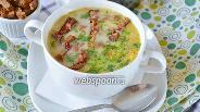 Фото рецепта Сырный суп с копчёностями