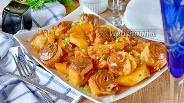 Фото рецепта Штрудель с картошкой и капустой
