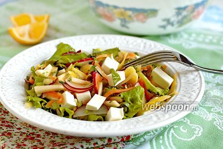 Салат из редиса и моркови
