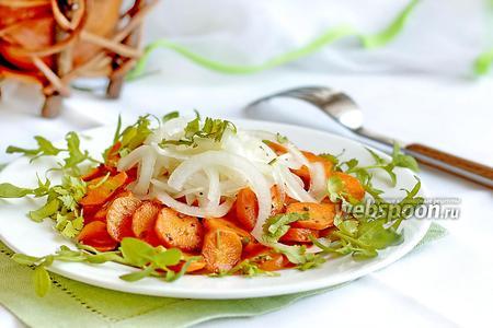 Фото рецепта Салат из жареной моркови и лука