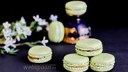 Фото рецепта Macarons с чаем матча