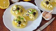 Фото рецепта Салат на кольцах ананаса