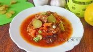 Фото рецепта Азу из говядины с огурцами