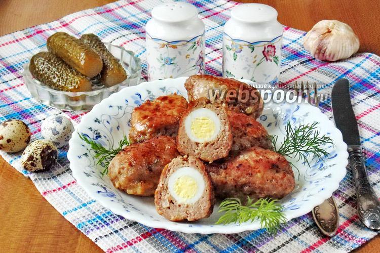 Фото Котлеты с перепелиными яйцами