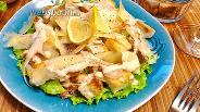 Фото рецепта Салат Цезарь с рыбой