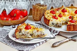 Киш с курицей и грибами видео рецепт