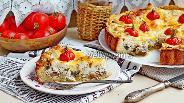 Фото рецепта Киш с курицей и грибами