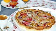 Фото рецепта Пирог с замороженными сливами