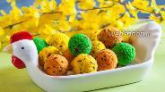 Фото рецепта Кексики в формочках «Пасхальные яйца»