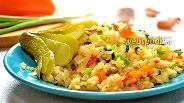 Фото рецепта Постный плов с овощами
