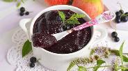 Фото рецепта Повидло из яблок и чёрной смородины