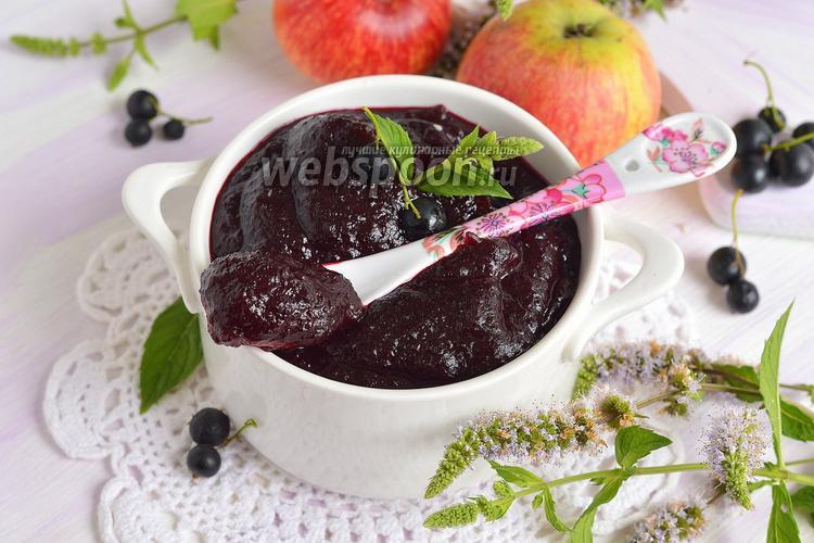 Фото Повидло из яблок и чёрной смородины