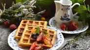 Фото рецепта Толстые бисквитные вафли