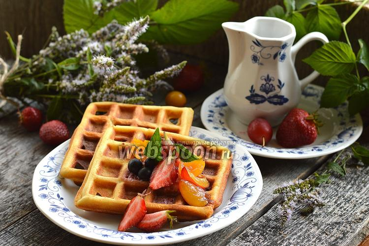 Фото Толстые бисквитные вафли