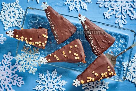 Пирожные «Шоколадные ёлки»
