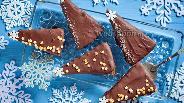 Фото рецепта Пирожные «Шоколадные ёлки»